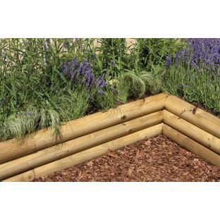 Half Mini Sleeper 6ft Pack Of 4 From Homebase Co Uk Landscape Timbers Landscape Timber Edging Garden In The Woods