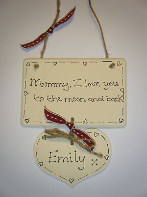 Personalised Mothers Day Wooden Plaque Letter A Crafts Mother