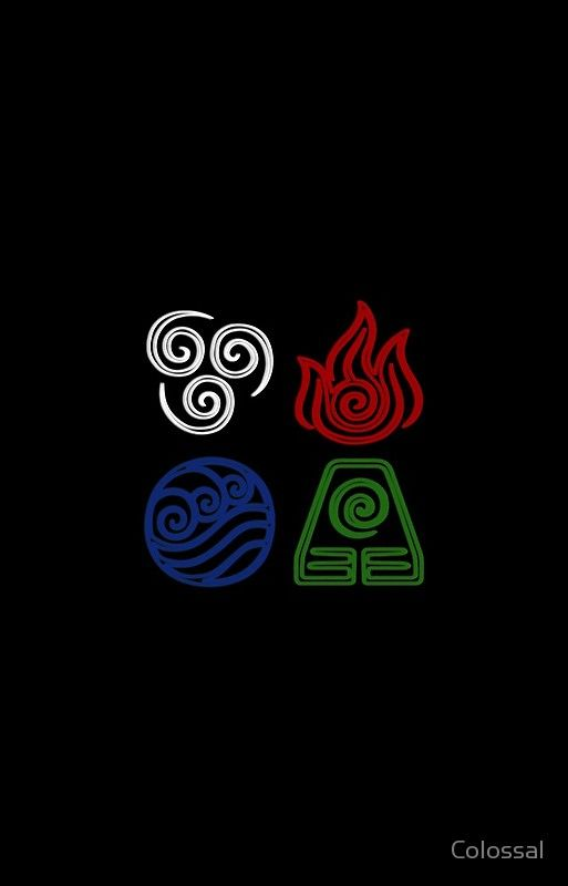 Four Elements Minimalist Avatar Tattoo Avatar Aang Avatar Airbender