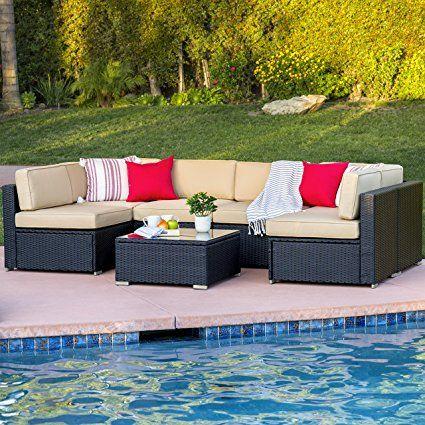 719 Best Choiceproducts 7 Piece Outdoor Patio Garden Furniture Wicker Rattan Sofa Wicker Patio Furniture Outdoor Patio Furniture Sets Outdoor Patio Furniture