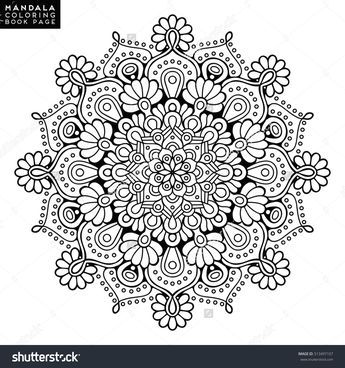 Flower Mandala Vintage Decorative Elements Oriental Pattern Vector Illustration Islam Arabic In Mandala Malvorlagen Mandala Selber Malen Malbuch Vorlagen