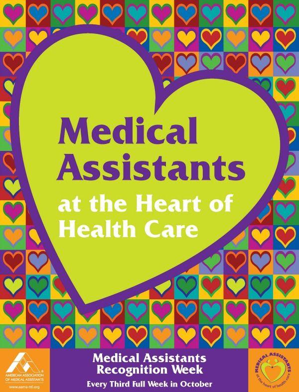 Medical Assistants Recognition Week Medical Assistant Certified Medical Assistant Medical Assistant Student