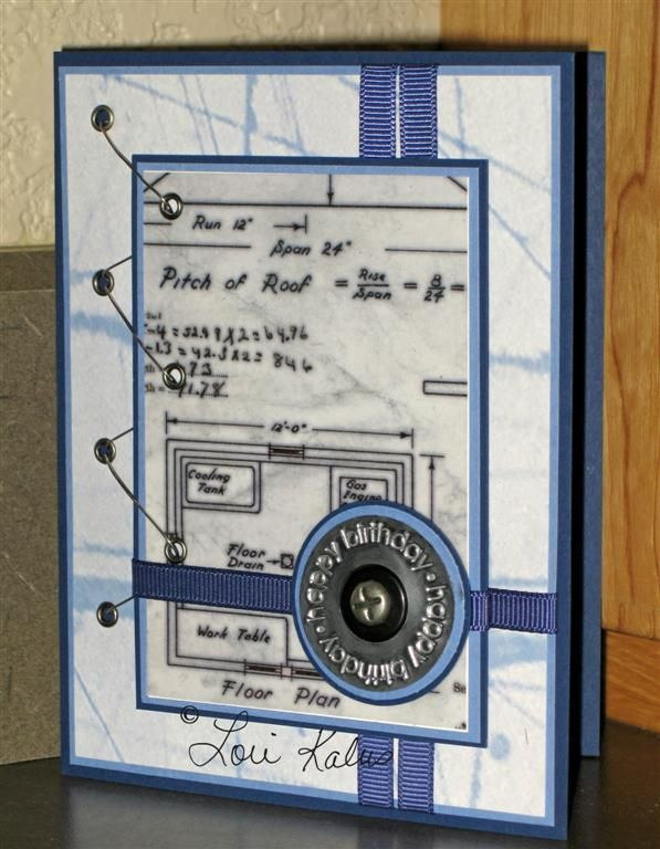 Engineers Birthday Card My Afternoons Delight StampinUp