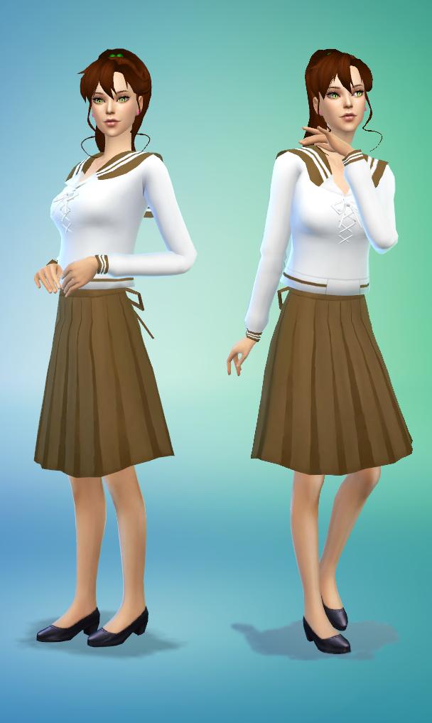 [ SIMS 4 ] Makoto's Uniform School Sims, Sims 4, Sims 4