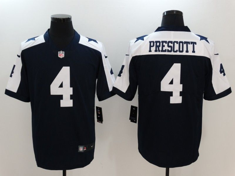 pretty nice 0da87 6d226 Men's Dallas Cowboys #4 Dak Prescott Thanksgiving Vapor ...