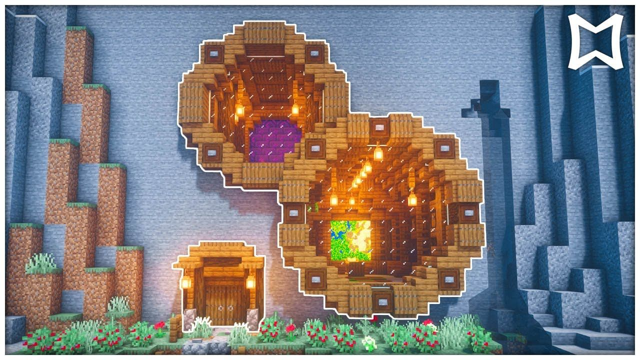 Minecraft Mountain House Tutorial  How To Build A Minecraft Base