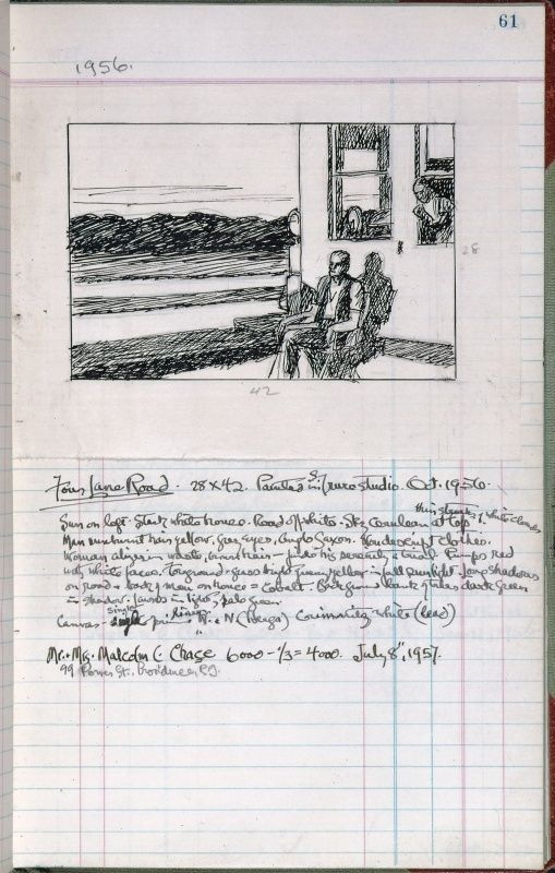 Edward Hopper Page 61 From Artist S Ledger Book Iii 1924 67 Ink
