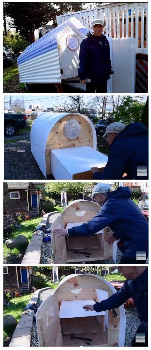 My bicycle camper build from plans by Paul Elkins DIY - induced info