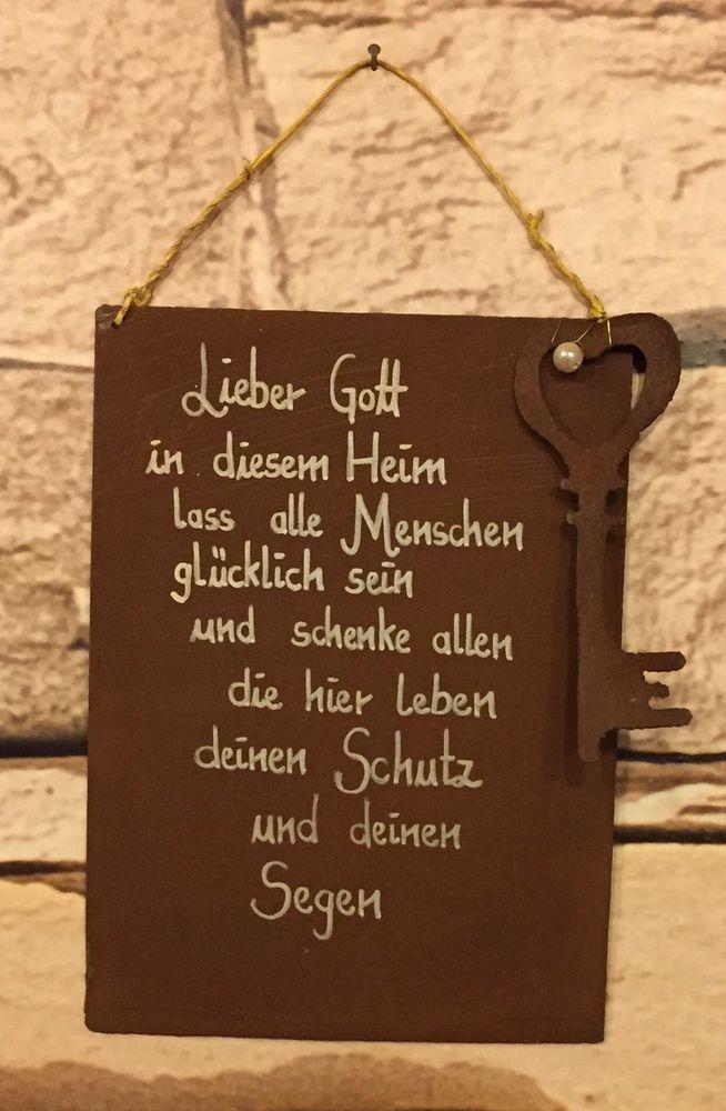 """Spruch Edel Rost Tafel Hochzeit Schild """"Lieber"""