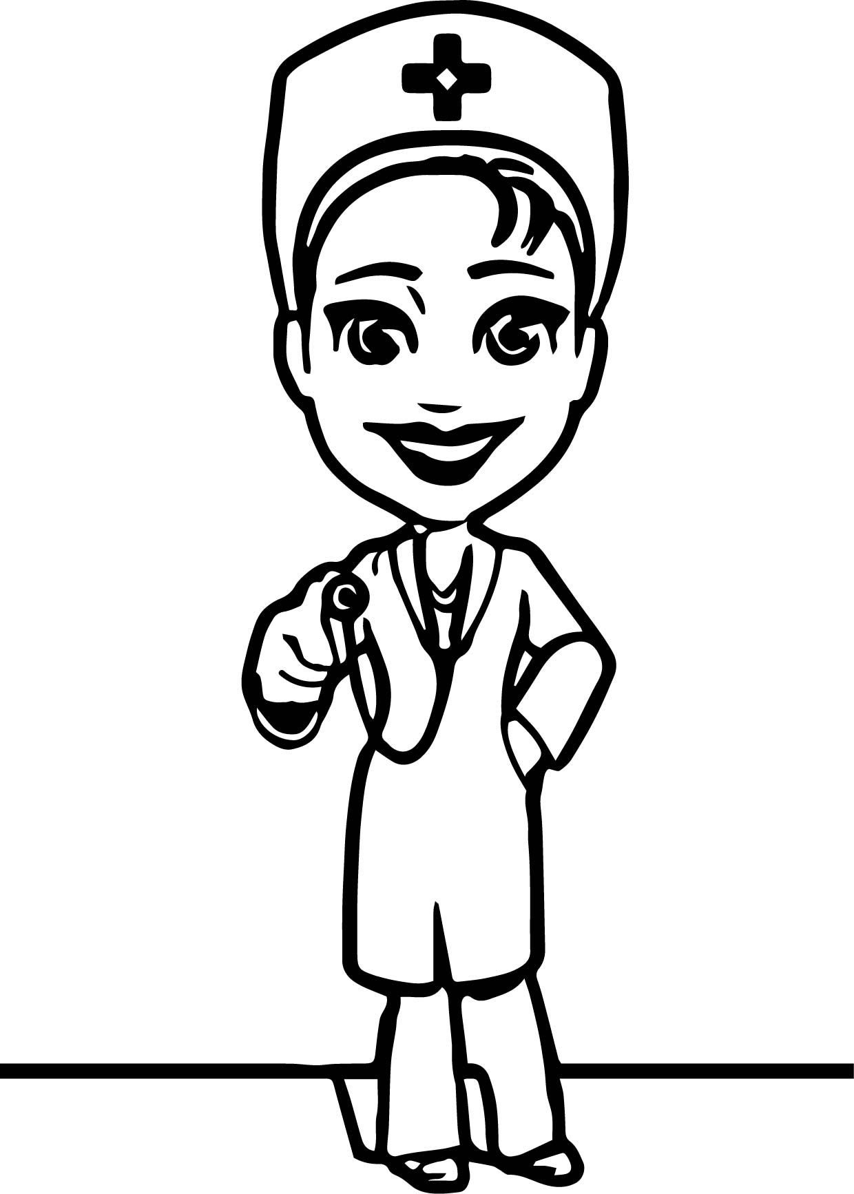 Awesome Female Doctor Character Coloring Page Female Doctor