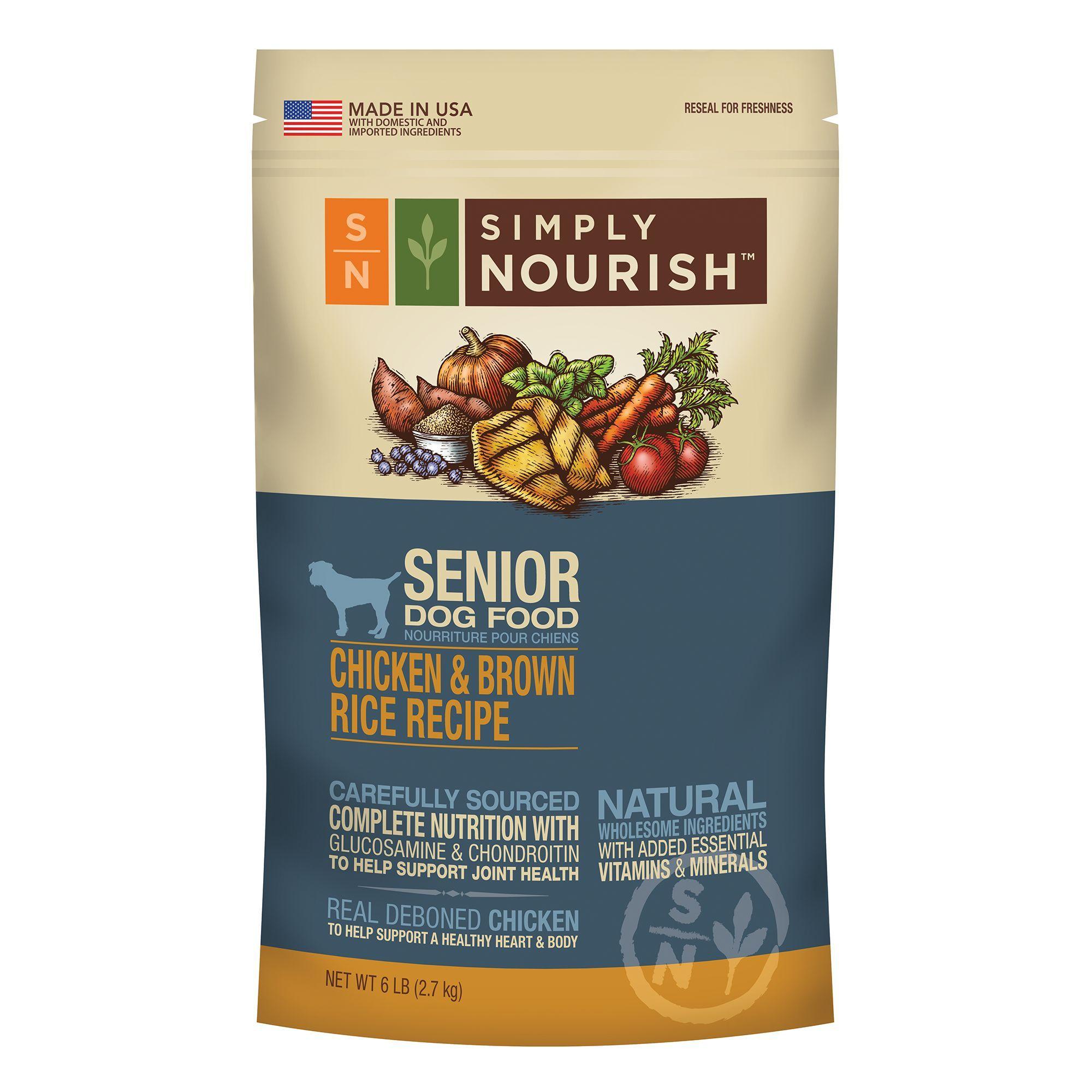 Simply Nourish Senior Dog Food Natural Chicken And Brown Rice