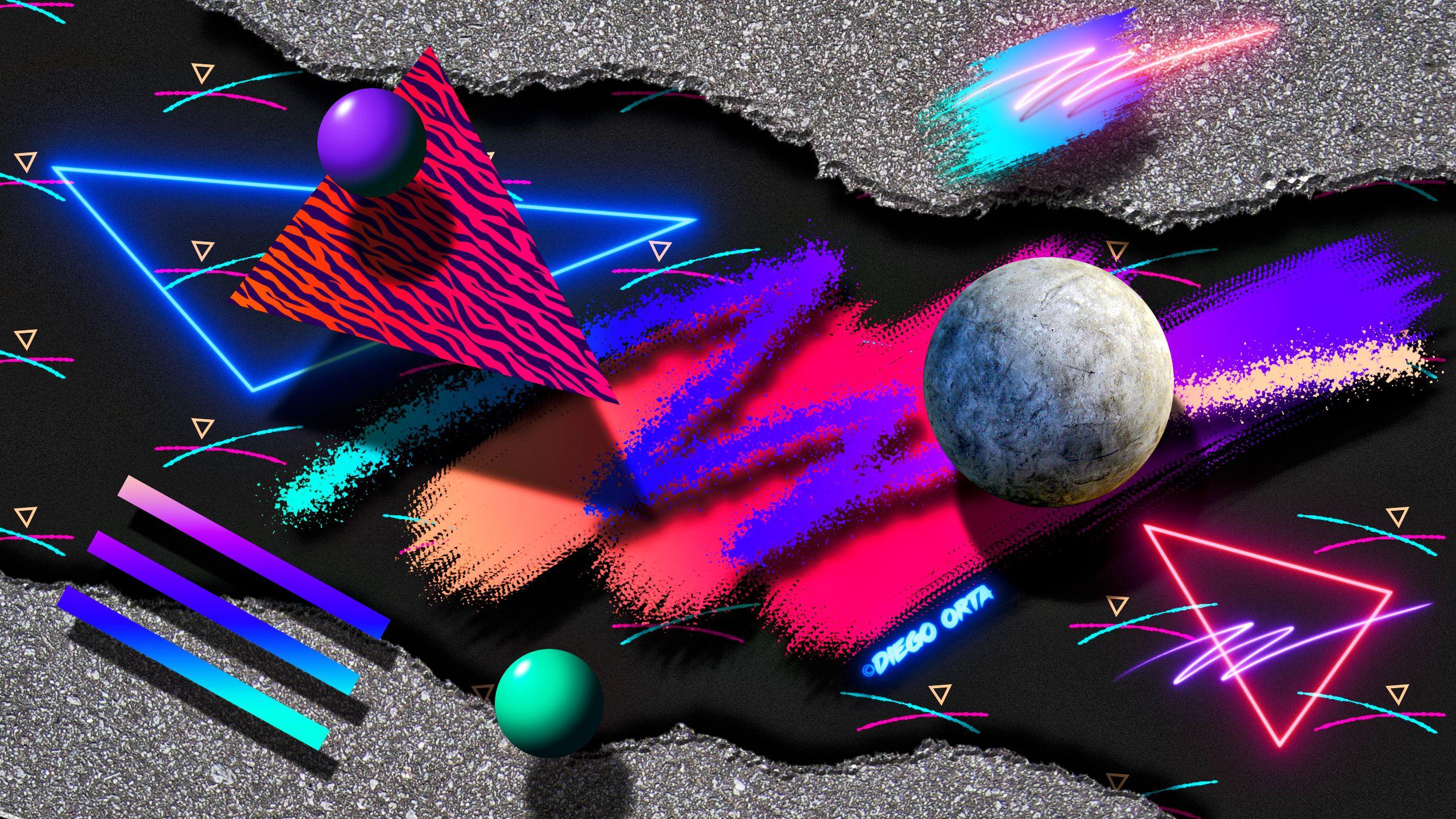 80s abstract newwave art 3 on behance wave art art