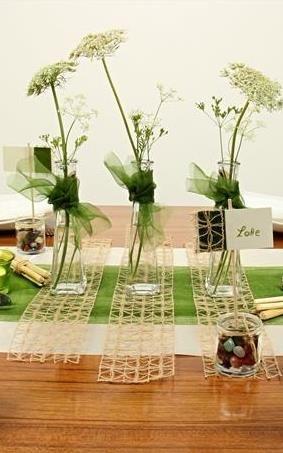Grün braune #Tischdekoration, tolle Dekoideen für deine - Deko Gartenparty Grun