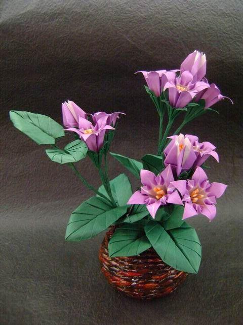 https://flic.kr/p/wpxCwB | Gentian  by Shigeru Yamasaki | Shigeru Yamasaki - 3D Origami Flowers