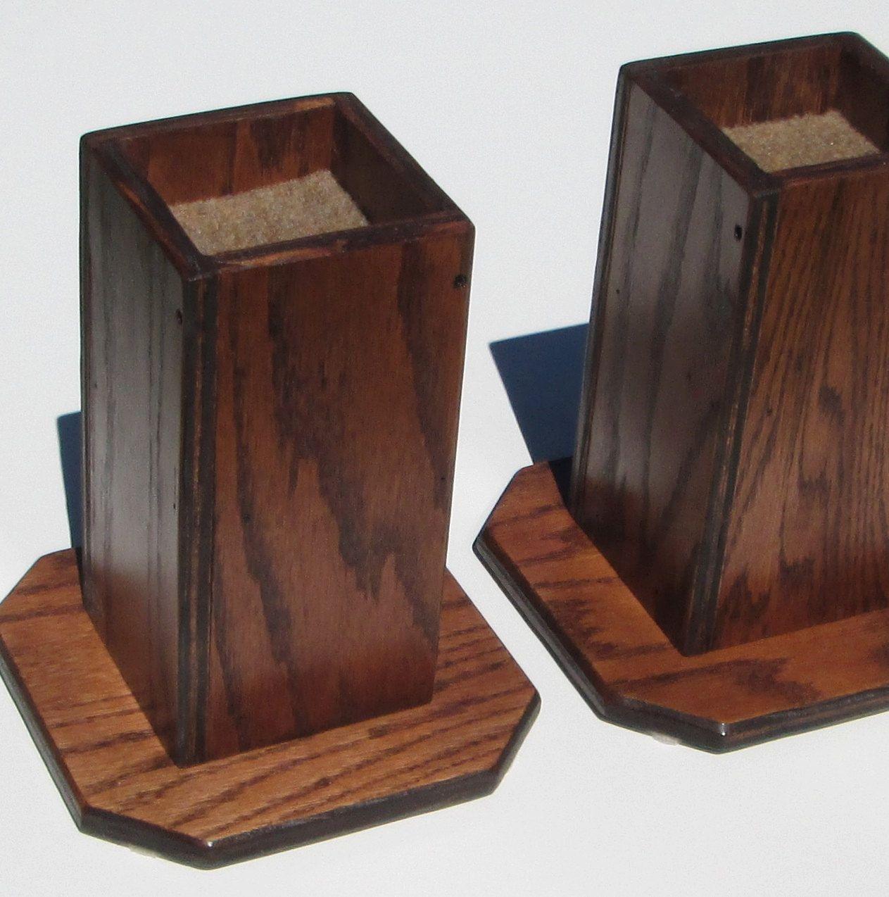 Furniture Risers 6 Inch All Wood Construction Sleek By Odyssey359 97 00 Furniture Risers Wood Construction Sturdy Furniture
