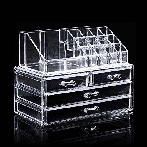 Homdox Acryl Kosmetikorganiser Transparent Kosmetik Aufbewahrung - schubladen organizer küche