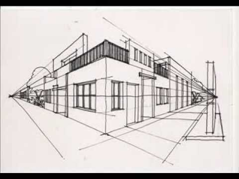 youtube video simple city drawn in 2 point perspective art videos pinterest perspektive. Black Bedroom Furniture Sets. Home Design Ideas