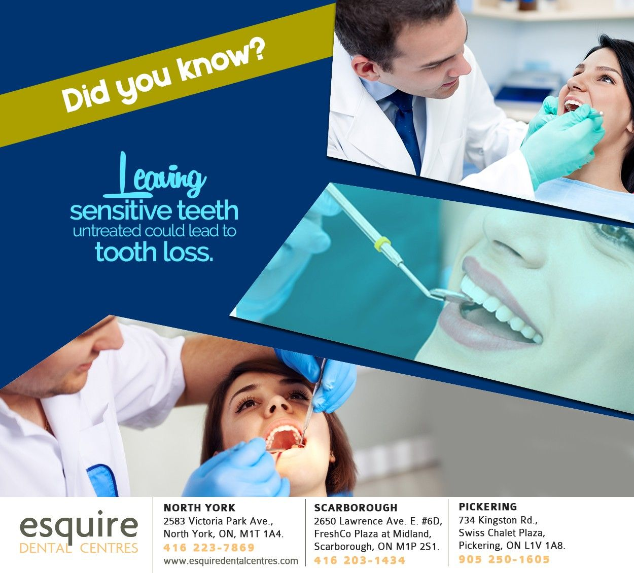 Your teeth may be sensitive as a result of gum recession
