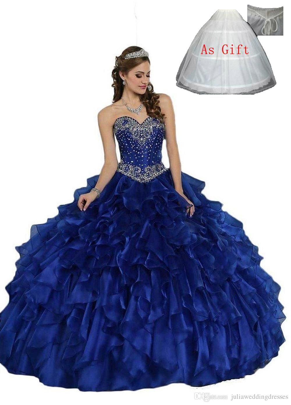 New sexy royal blue cheap quinceanera dresses ball gown