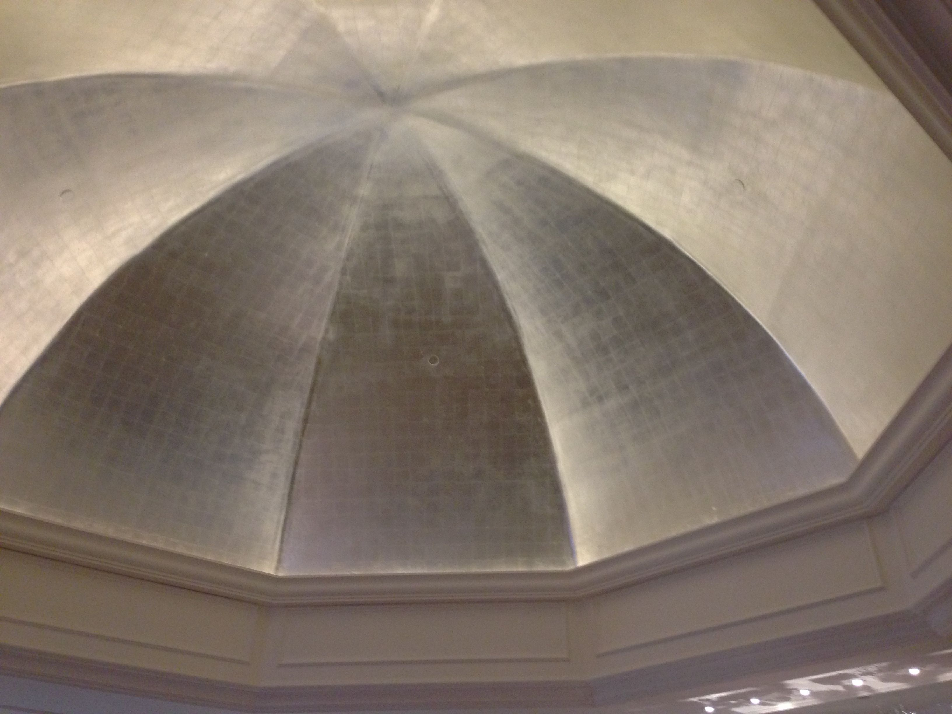 Silver painted dome ceiling