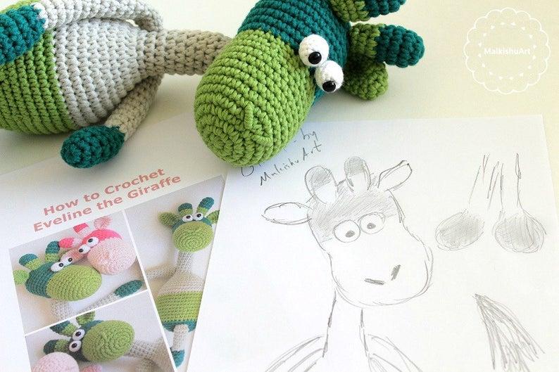 Eveline the Giraffe crochet pattern, Crochet Giraffe pattern, Crochet pattern, crochet amigurumi pattern, crochet Giraffe doll #giraffepattern Eveline the Giraffe crochet pattern Crochet Giraffe pattern | Etsy #crochetgiraffepattern
