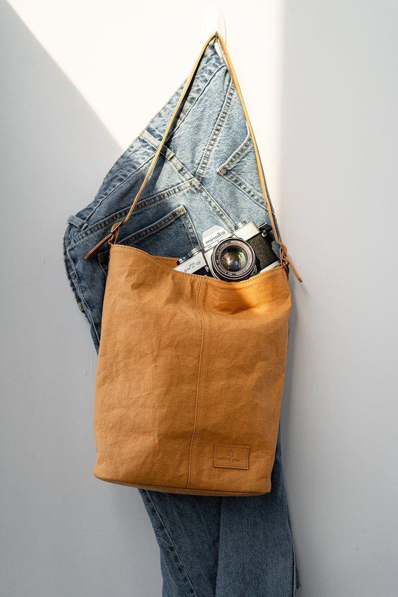 Shoulder bag & Cross body Bag – Vegan Casual Handbag, Washable Paper Crossbody Bag, Vegan bag