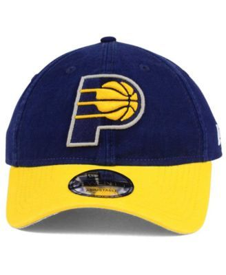 lower price with new appearance fashion style New Era Indiana Pacers 2 Tone Shone 9TWENTY Cap - Navy/Yellow ...