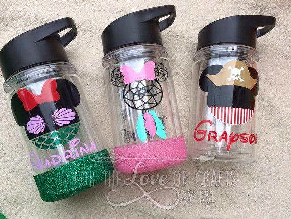 Custom Disney Style Water Bottle By Rbtcrafts On Etsy Diy Water