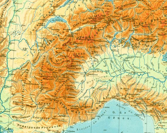 Map Taken From A French Geographic Atlas Published In Paris In