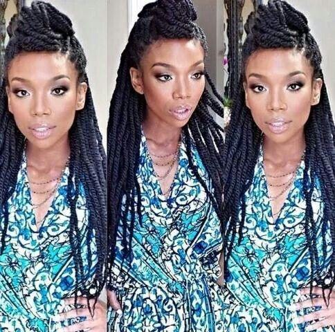 Brandy S Twists Hair Styles Natural Hair Styles Hair