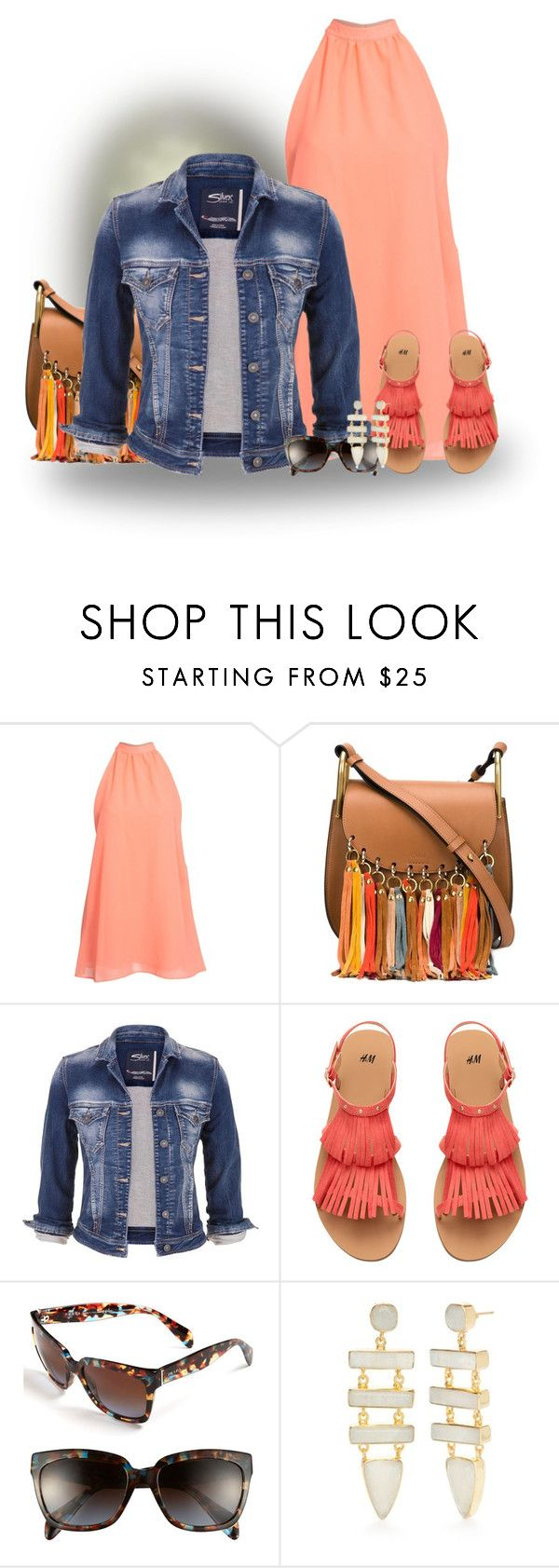 """denim"" by sharonbeach ❤ liked on Polyvore featuring Chloé, maurices, Prada, Reece Blaire and denim"