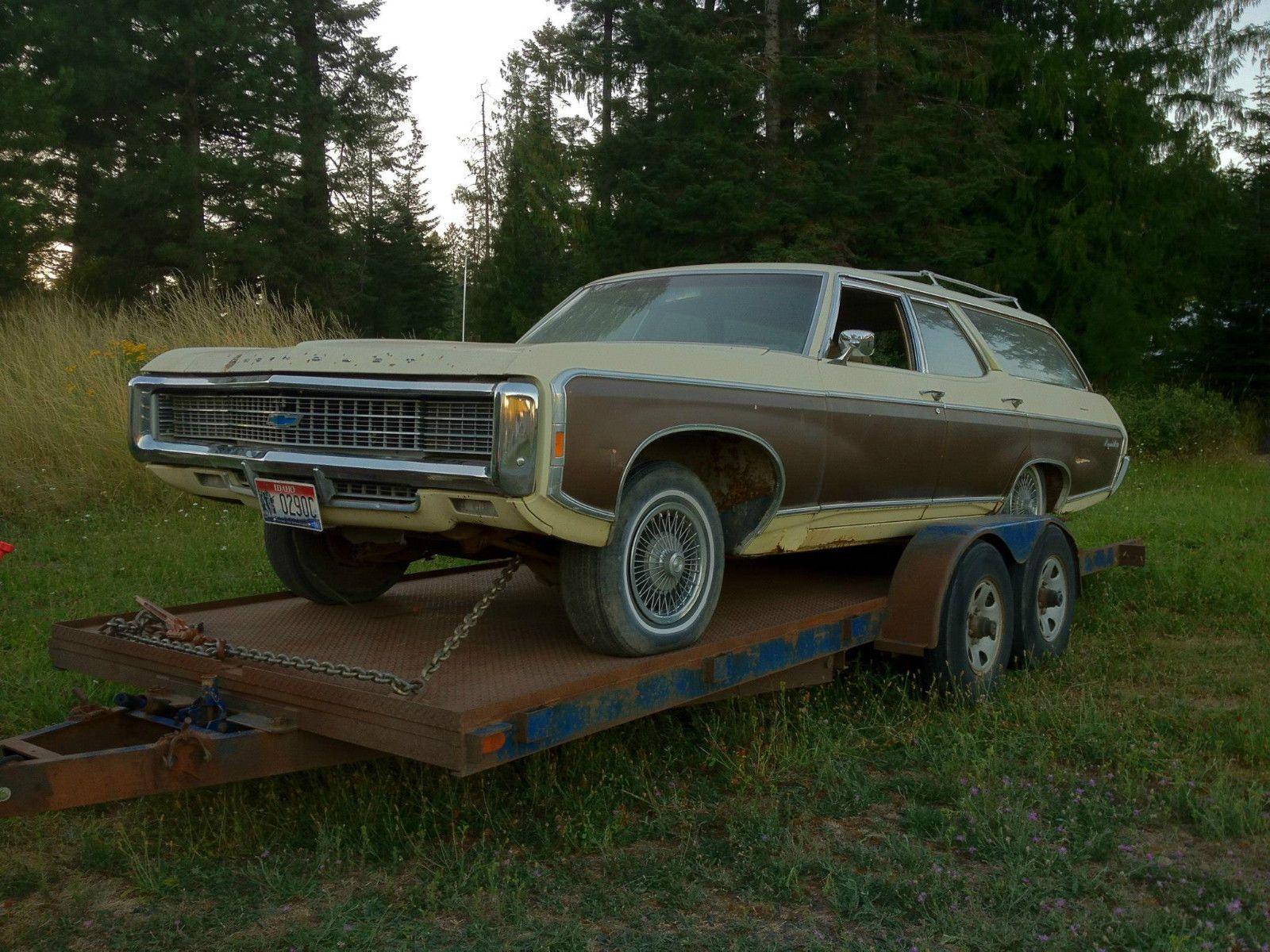69 1969 caprice kingswood estate wagon hideaway headlights bbc 9 passenger classic chevrolet caprice 1969