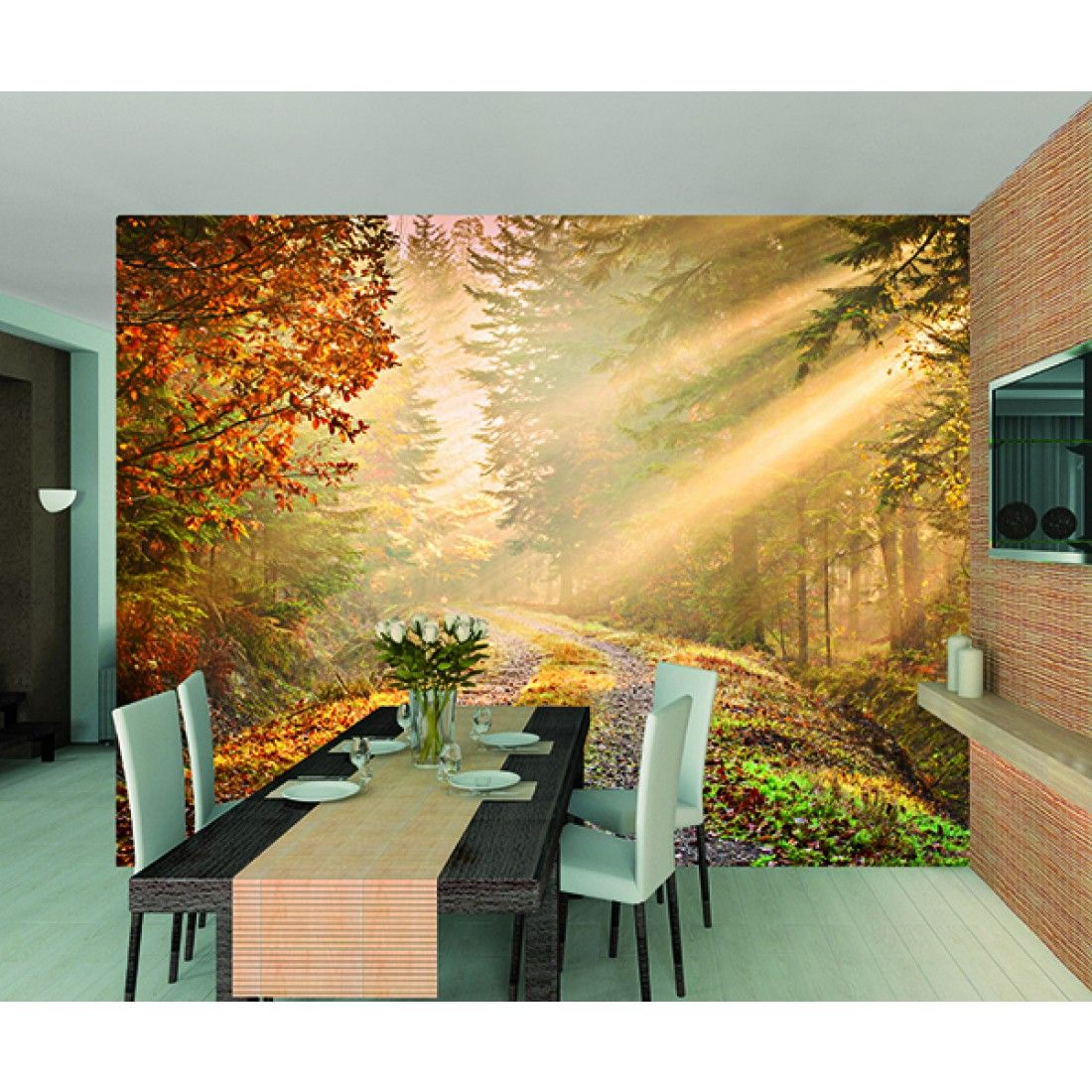 Autumn Forest Wallpaper Mural - http://wallucky.com/autumn-forest ...