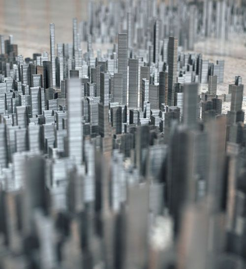 Peter Rootu0027s Ephemicropolis   A City Of Staples. CityscapesPeter Ou0027 TooleOfficesPostsWholesale Office SuppliesArchitecture40 ...