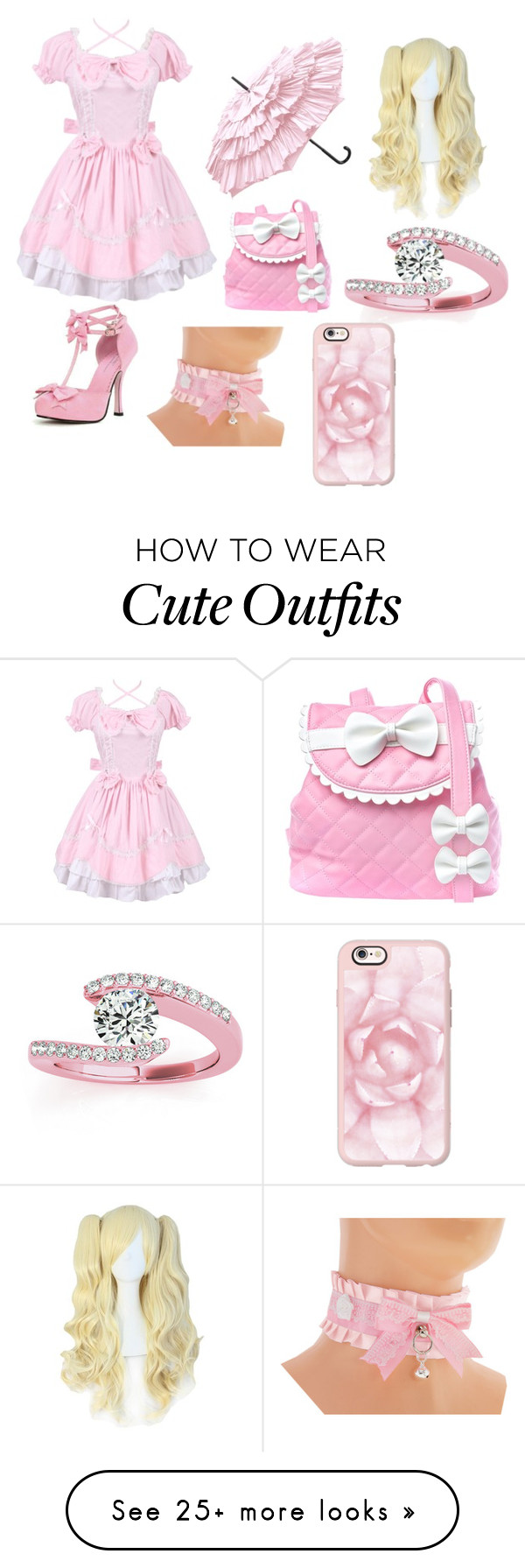 """Random outfit"" by cleo-chan on Polyvore featuring cutekawaii, Sugarbaby, Allurez and Casetify"