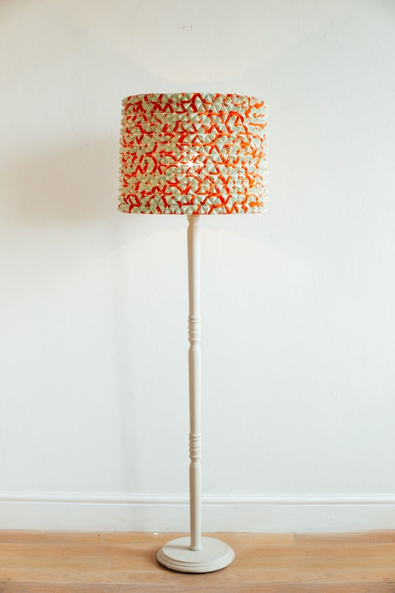 Lamp shade constructed from hundreds of hand manipulated train lamp shade constructed from hundreds of hand manipulated train tickets by designer timid elk gloucestershire aloadofball Choice Image