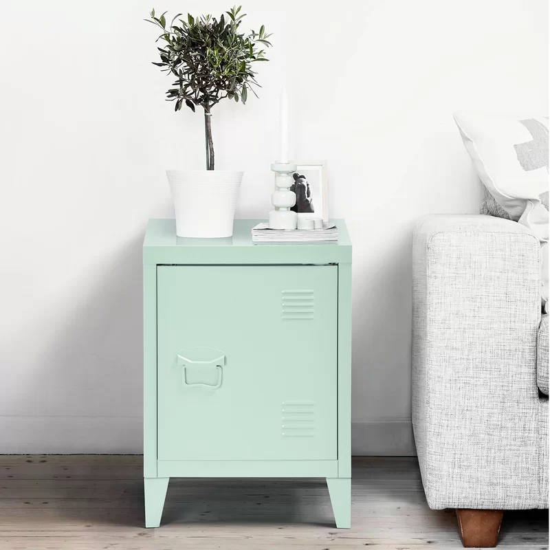 Ebern Designs Abingd Metal Nightstand & Reviews Wayfair