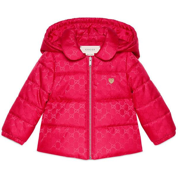 0638d8d637 Gucci Baby Gg Nylon Padded Jacket ($510) ❤ liked on Polyvore ...