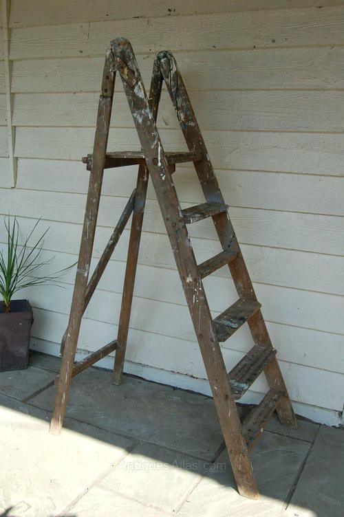 Old Wooden Step Ladder Wooden Steps Ladder Wooden Ladder