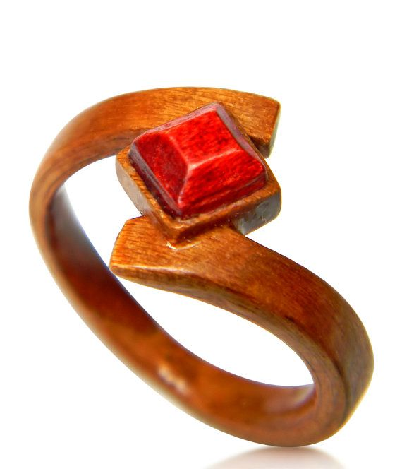 Hand Carved Wooden Ruby Ring – Wood Ring – Bentwood Ring – Wood Jewelry –  Rings – Women -Jewelry – Engagement Ring – Spring – Gift – For Her 153b6e440c8
