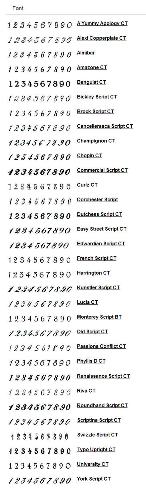 Photo of Tattoo Script Numbers At Popular Metal S