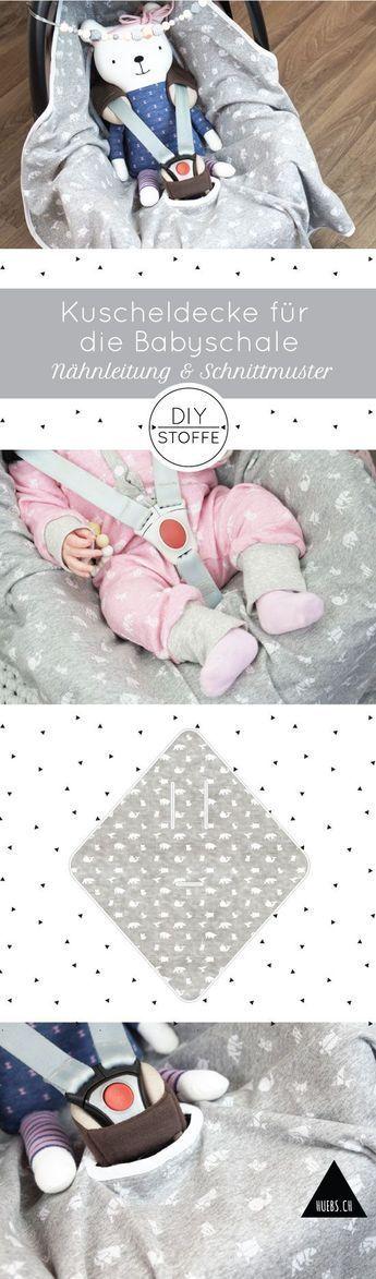 Kuscheldecke für die Babyschale - Anleitung & Schnittmuster #babyblanket