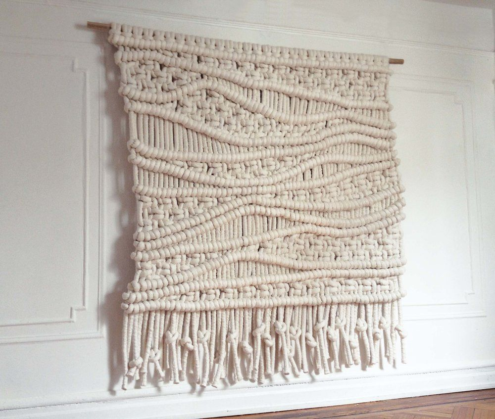 Large Modern Macrame Wall Hanging Custom Made Shopmacromacrame 6 Wide X 6 High Weaving Wall Hanging Large Macrame Wall Hanging Fiber Art Wall Hanging