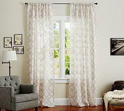 Pottery Barn Burnout Sheers Nora | Sheer Curtains, Window Sheers U0026 Sheer  Curtain Panels |