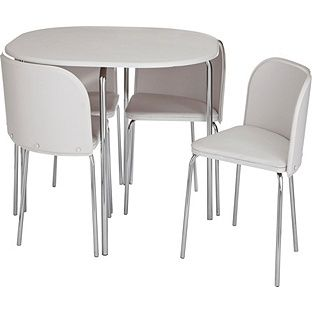 Buy Hygena Amparo White Dining Table and 4 White Chairs at Argos.co ...