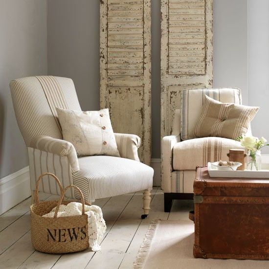 Exceptional Sun Bleached Stripe Upholstered Chairs | Decorating With Sun Bleached  Colours | Decorating |