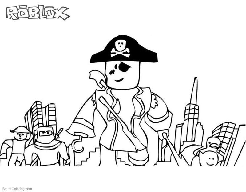 Roblox Coloring Page Pdf Coloring Pages Pirate Coloring Pages Printable Coloring Pages