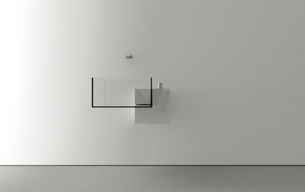 Exciting Minimalist Bathroom Sink Design by Victor Vasilev | Founterior