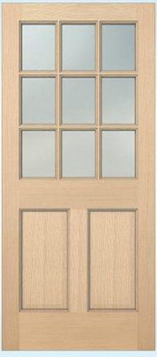 Exterior Hemlock Solid Stain Grade French Doors 9 Lite Over Bottom Raised Panels Ebay Exterior Doors With Glass Exterior Doors Stained Glass Panels