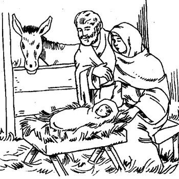 Mary And Joseph Was With Jesus Coloring Pages
